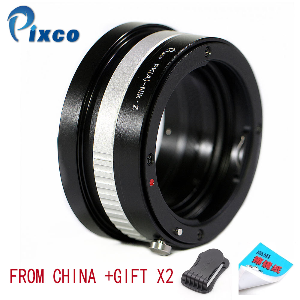 Pixco P/A-For Nikon Z Lens Adapter Suit For Pentax(A) to for Camera,Adapter Ring Z6,Z7