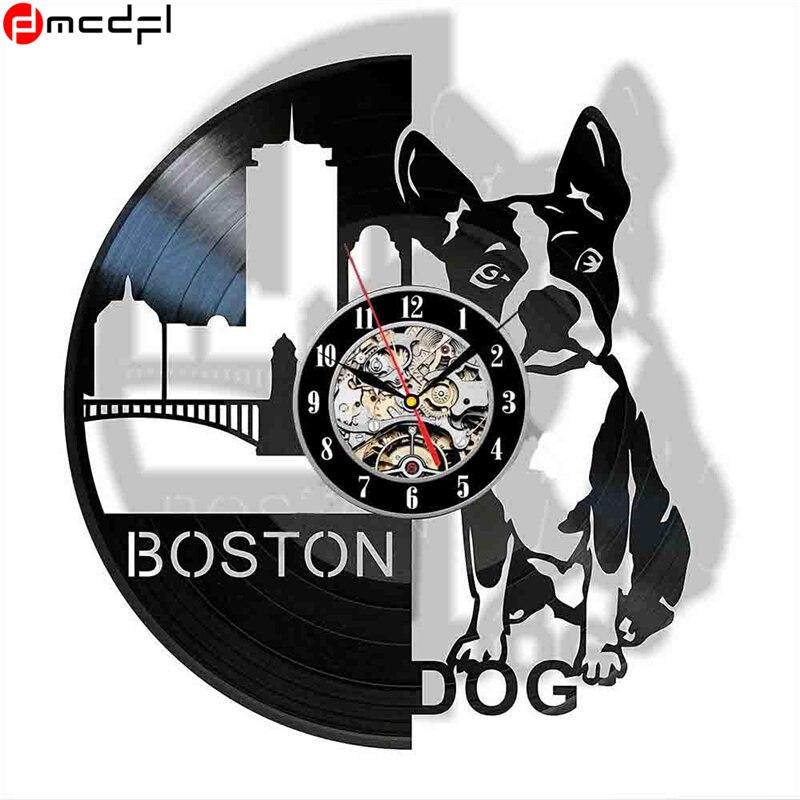 Pet Dog 3d Vinyl Record Wall Clock Diy Room Home Decor