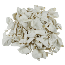 Plain White 12 Inches Helium Quality Latex Balloons - Pack of 100