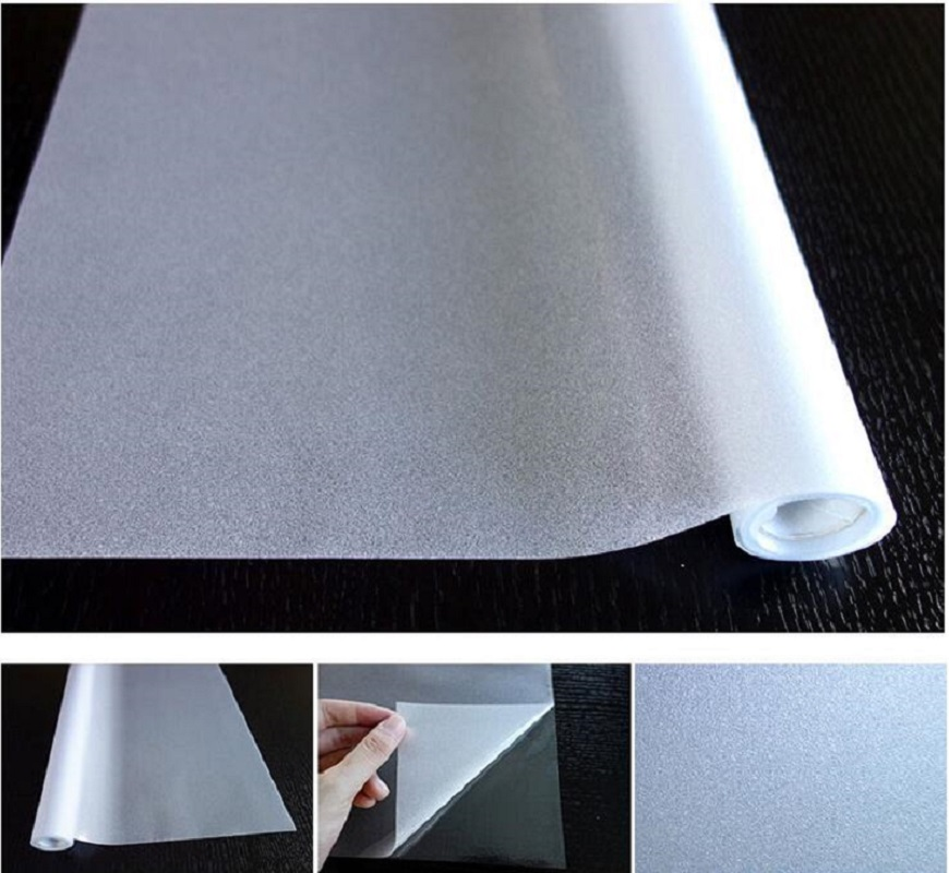 60*300cm Frosted Privacy Glass Window Film Static Cling Removable Pure White For Office Bathroom