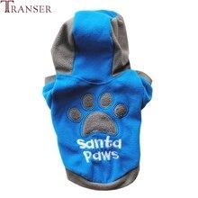 Transer roupas para cães de estimação santa patas hoodies do cão moletom inverno quente jaqueta casaco roupas cachorro 71101