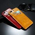 Floveme untada de cera de petróleo retro de volta caso capa para o iphone 6 6 s ultra slim dual card slots fundas coque shell para iphone 6 6 s Capa