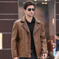 Free shipping 2015 Hot Sale Fall Fashion Men's Faux Leather Jacket Men's Casual Wear Top quality Size M-4XL wholesale