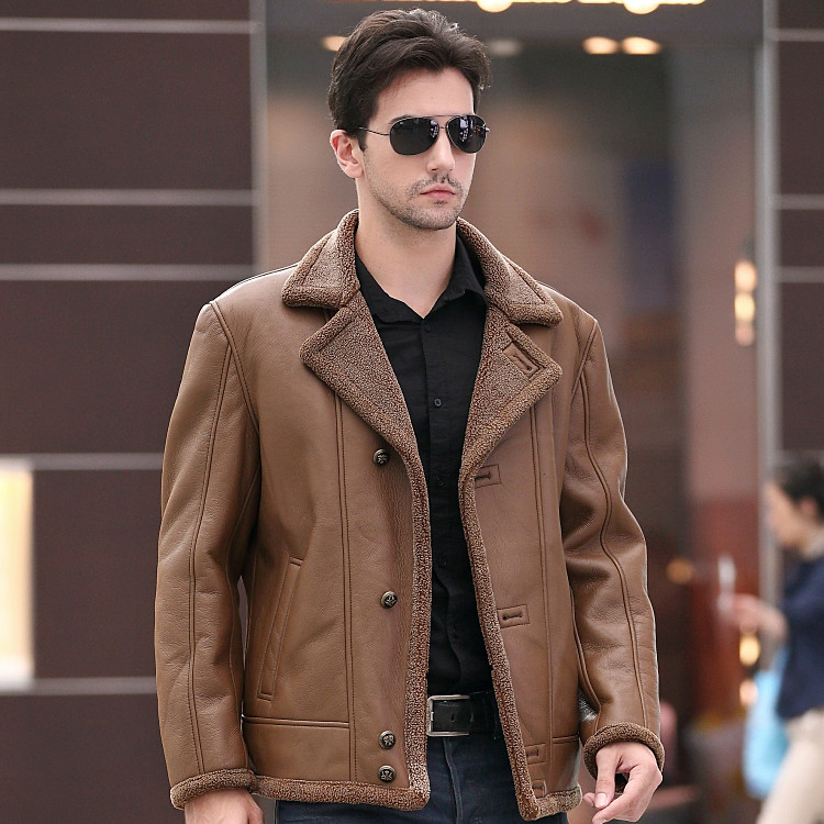 msaiss 2017 Fashion Men's Faux Leather Jacket Men's Casual Wear Top quality Size M-4XL