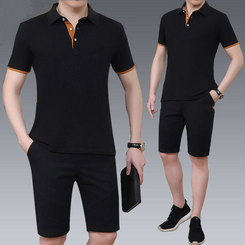 Summer Sports Suit Men's Cotton Casual Suit Men's Sportswear