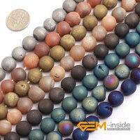 10mm Druzy (Drusy) metallic Gecoat Carneool voor sieraden maken DIY losse kralen voor armband maken strand 15