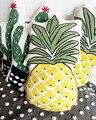 Niños Piña Ananas Educativos Plantas Frutas Cojín Almohada de Lino de Algodón Baby Room Decor Regalos de Peluche del Niño Suave 1 unids