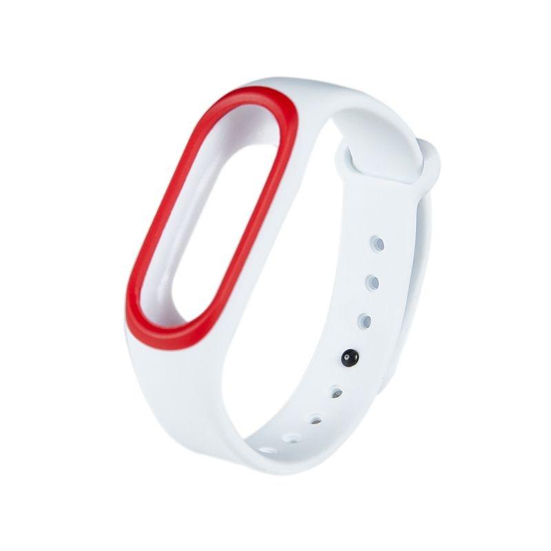 Силиконовые Красочные Браслет спорта ремешок для Xiaomi Эй плюс Smartband - Цвет: W