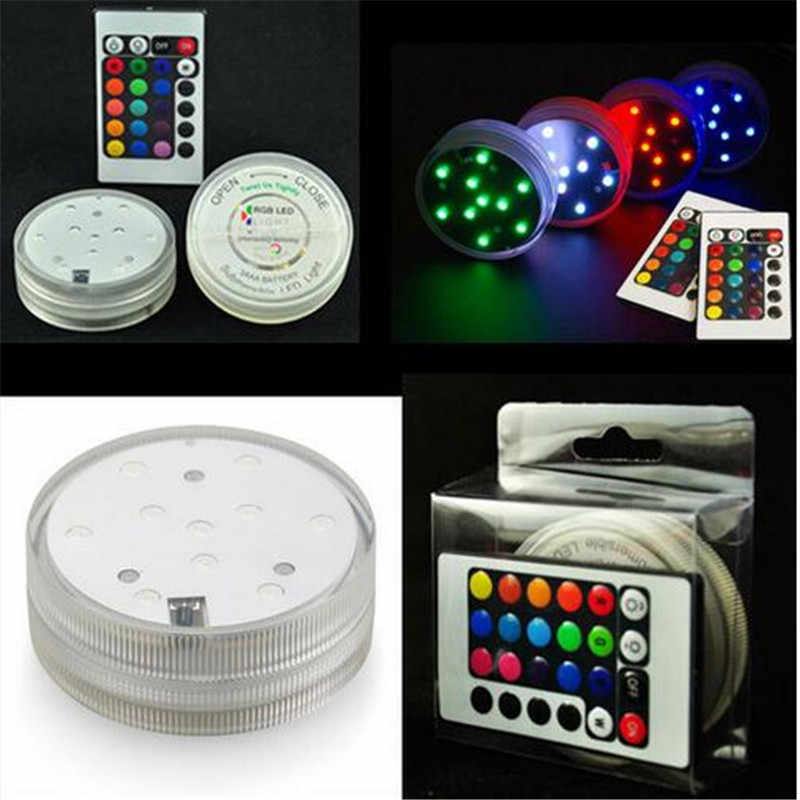 1 Pc/lot New Design Color Changing Remote Controlled Led Submersible Lights For Narguile Shisha,Hookah