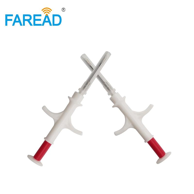 X300pcs/lot Microchip Injector RFID 2.12*12mm FDX-B Animal Dogs Cat ID Bio-glass Tube Syringe Micro Chip