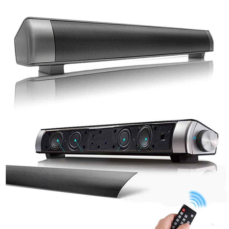 Phone Computer Soundbar Speaker Stereo Wireless Bluetooth Speaker 2*5W Loudspeaker 3.5mm AUX USB TF Card Mp3 Player with Remote микровуаль garden выс 290см сиреневый