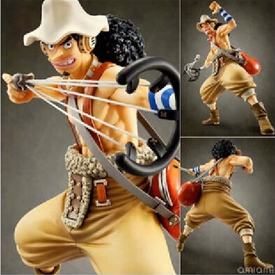 One Piece Usopp  Anime POP PVC Action Figure Collection Model Toy 23cm Free Shipping anime one piece dracula mihawk model garage kit pvc action figure classic collection toy doll