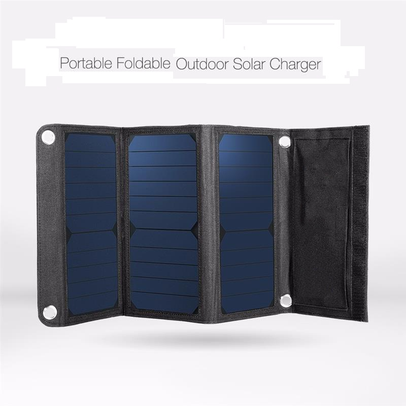 Sunpower 21W Solar Power Panel Charger Dual USB Foldable Portable for Smartphone Outdoor Activities Lighting Use Free Shipping portable outdoor 18v 30w portable smart solar power panel car rv boat battery bank charger universal w clip outdoor tool camping