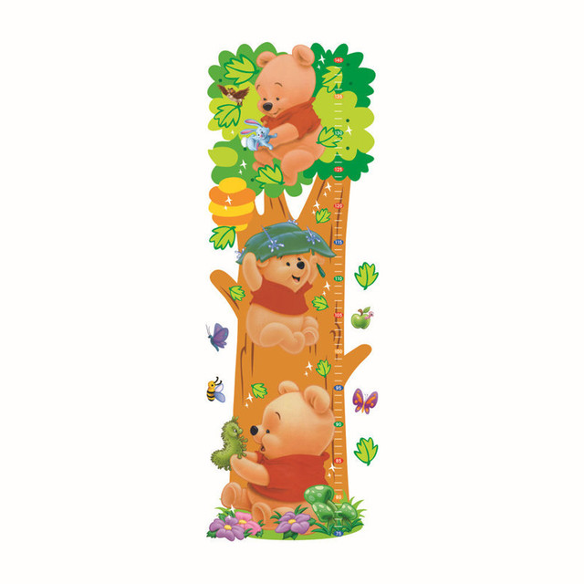 Winnie Pooh dibujos animados niños habitación árboles oso patrón ...