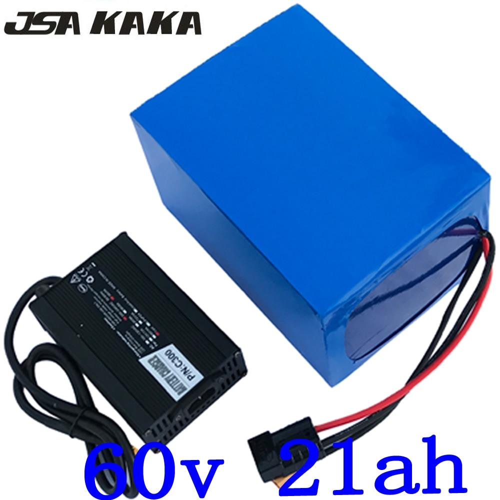 Batterie de vélo électrique haute puissance 2000 W 48 V 20AH 48 V 21AH batterie de vélo électrique 48 volts avec chargeur 50A BMS + 2A