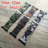Canvas Camouflage Sport Apple Watch Strap Nylon 38MM 42MM Watch Band For Iwatch Apple Watch With