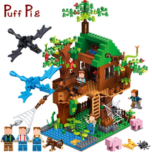 Minecrafted Classic Tree House My world Compatible Legoed City Figures Building Blocks Bricks Toys For Children Christmas