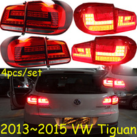 4pcs car styling Tiguan tail lights for 2013 2014 2015 tiguan taillights LED Tail Lamp rear lamp drl+brake+reverse+turn signal