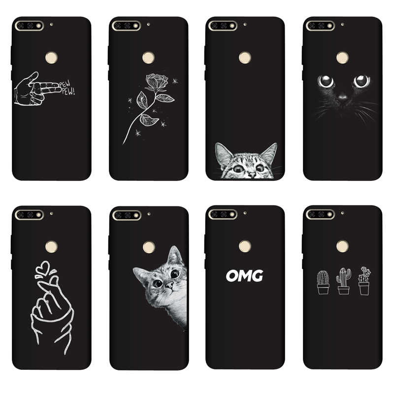 QAQsam Silicone 5.7 inches For Huawei Honor 7C Russian Case Cover Painting Matte Phone Cases For Huawei Honor 7C AUM-L41 Funda