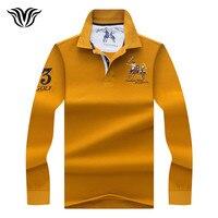 VORELOCE Brand New Autumn Men S Long Sleeves POLO Shirt Slim Slim Men S Solid Color