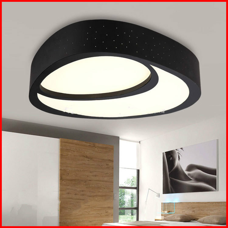 Ceiling Lights Lovely Modern Creative Led Ceiling Lamp Light 28w/36w Flush Mount Ceiling Lights For Bedroom Kitchen Iron+acrylic Led Ceiling Lamp Cool In Summer And Warm In Winter