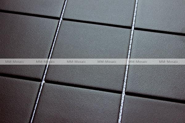 Black Anti Slip Ceramic Mosaic Tile Bathroom Shower Wall Floor Tile