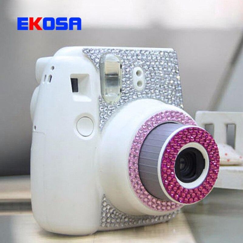 water diamond stickers personality for fujifilm instax mini 8 camera fashion pasters decoration. Black Bedroom Furniture Sets. Home Design Ideas
