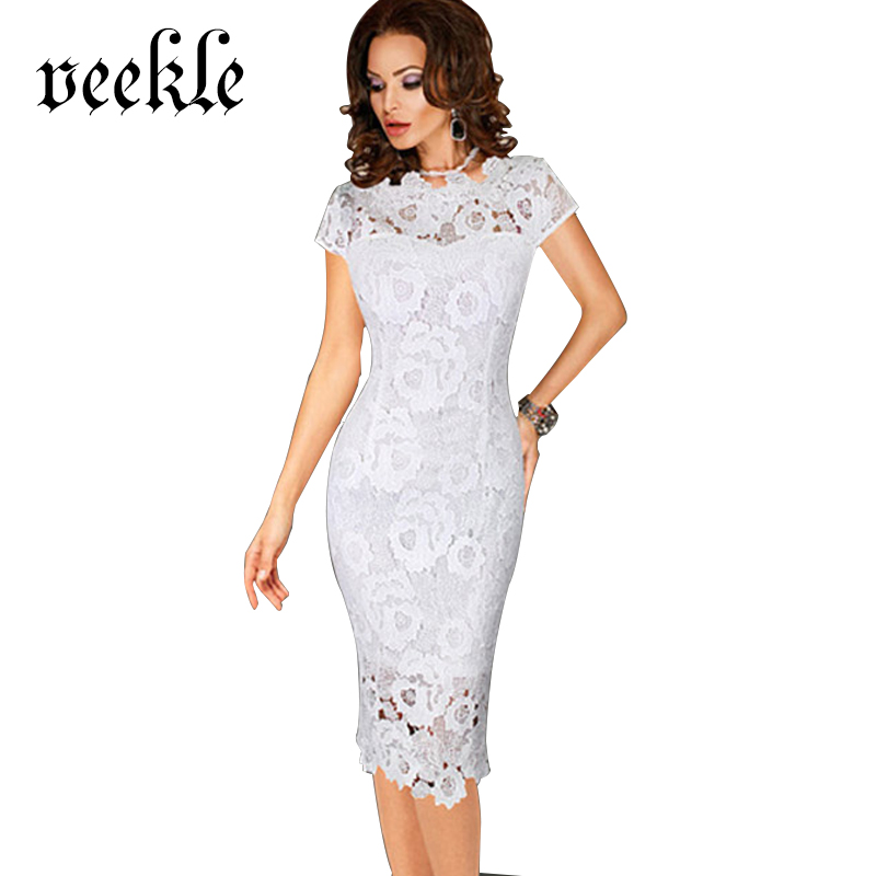 Women Lace Dress Evening Party Tight Bodycon Burgundy