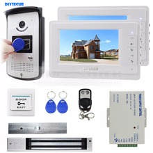 DIYSECUR 7 inch Monitor Video Door Phone Video Intercom Entry System 700TVL Camera RFID Keyfob Remote Control Unlock