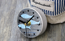 New Style Mediterranean Kitchen Refrigerator Fridge Magnet Clock 3.3′  Portable Wooden Wall Clock Fish Pattern Home Decoration