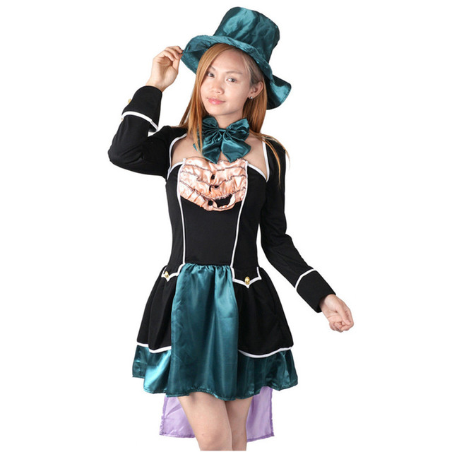 Cosplay Alice In Wonderland Johnny Depp Mad Hatter Costume Adult Outfit  Fancy Dress Halloween Costumes For Women Plus