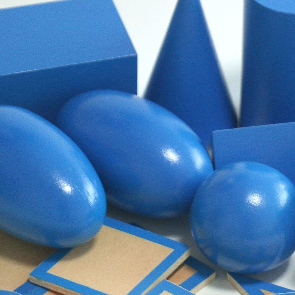 Montessori jouets éducatifs en bois solide géométrie bloc préscolaire en bois Montessori jouets d'apprentissage pour 2 3 4 ans B1667T - 5