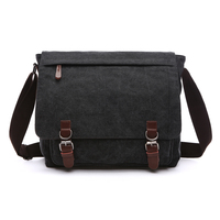 NEW ARRIVAL Canvas Leather Crossbody Bag Men Military Army Vintage Messenger Bags Postman Large Shoulder Bag