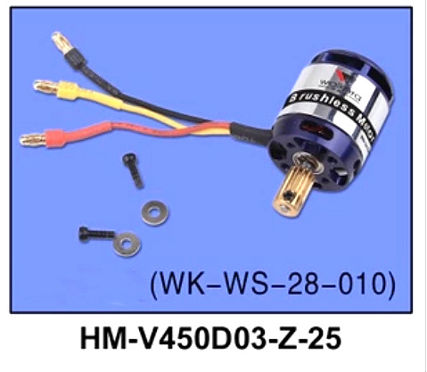 free shipping Walkera part HM-V450D03-Z-25 Brushless motor WK-WS-28-010 V450D03 helicopter free shipping walkera f210 z 22 racer counter clockwise brushless motor ccw wk ws 28 014a