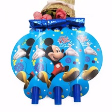 6pcs/Set  Mickey Mouse Blowout Theme Party Supplies Noise Maker Cartoon Kid Birthday Decoration
