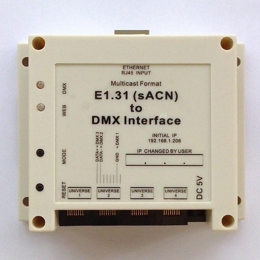 US $90 25 5% OFF For LSP (Light Show Pro), E1 31 (sACN) to DMX Interface /  Bridge, DMX512 over ethernet, total 4 DMX512 Universes output-in Stage