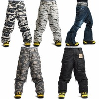 Newest Edition Southplay Winter Waterproof Skiing Snowboard 10,000mm Warming Army Military Total Pants