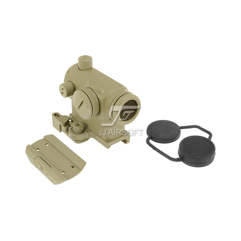 TARGET Micro 1x24 Red Dot with QD Riser Mount , CNC Low Mount & Killflash / Kill Flash (Tan) LT660, LT660HK or LT661 target solar power t1 t 1 red dot with riser mount and low mount tan ipsc hs403c hs503c