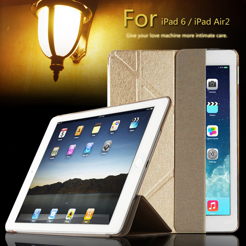 For iPad 6 / Air 2 A1566 A1567 case table Smart Cover Slim Magnetic PU Leather Stand Cases For iPad6 / Air2 new for apple ipad 2 3 4 ipad2 ipad3 case table smart cover slim magnetic pu leather stand cases