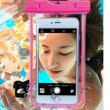 Waterproof Bag With Luminous Underwater Pouch Phone Case For iphone 5 5S SE 6 6s Plus For Samsung Galaxy S6 S7 edge Note 7 цена