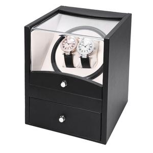 LEFTLY Black Auto Rotation Watch Winder Two Grids Box