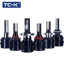 TC-X 2 Stücke H7 Led Lampe 7200Lm Scheinwerfer H1 H8/H11 HB3/9005 HB4/9006 H4 H27/880 Nebelscheinwerfer Auto Weiß 12 V Autos