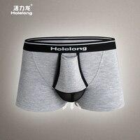 HOLELONG boxershort bambou hommes boxer homme sexy hommes renflement enha homosexuell sous-vêtements troncs boxeurs shorts gay slip HCP077