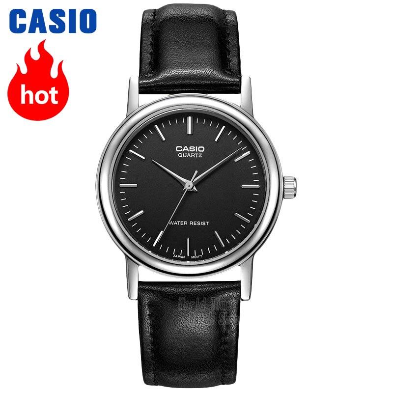Часы Casio Analogue Мужские кварцевые часы простой кожаные ремешок водонепроницаемые часыMTP-1095