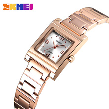 цена на SKMEI Bracelet Women's Watch New Quartz Top Brand Luxury Fashion Crystal Watches Ladies Relogio Feminino 1388
