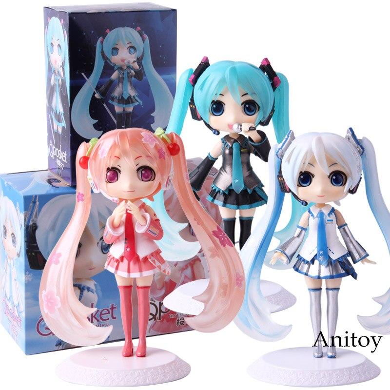 QPosket Q Posket Hatsune Miku Snow Sakura Miku Action Figure PVC Collectible Model Toy