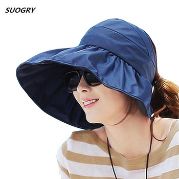 SUOGRY Sun Hats Visor Hat For Women With Big Heads Beach Summer UV Protection
