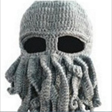 Free Shipping 2015 New Sale Unisex Warm Winter Octopus Point Ski Mask Hat Beanie Cap Hat Squid Tentacles Cthulhu