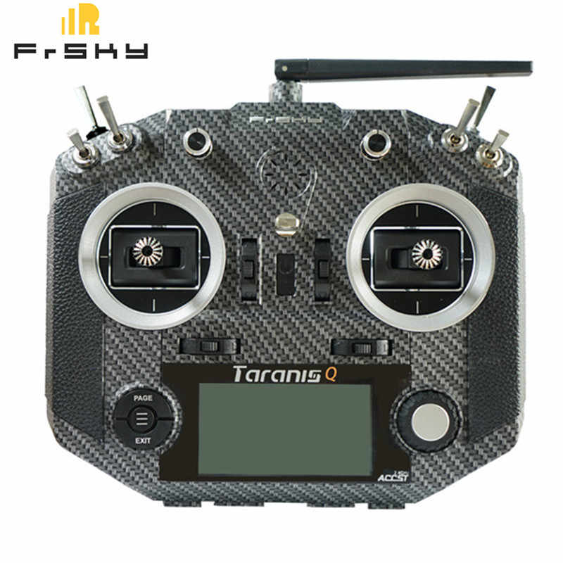 High Quality Frsky Taranis Q X7S Radio Tansmitter Parts Carbon Fiber Silicone Case Cover Shell for RC Toys Models