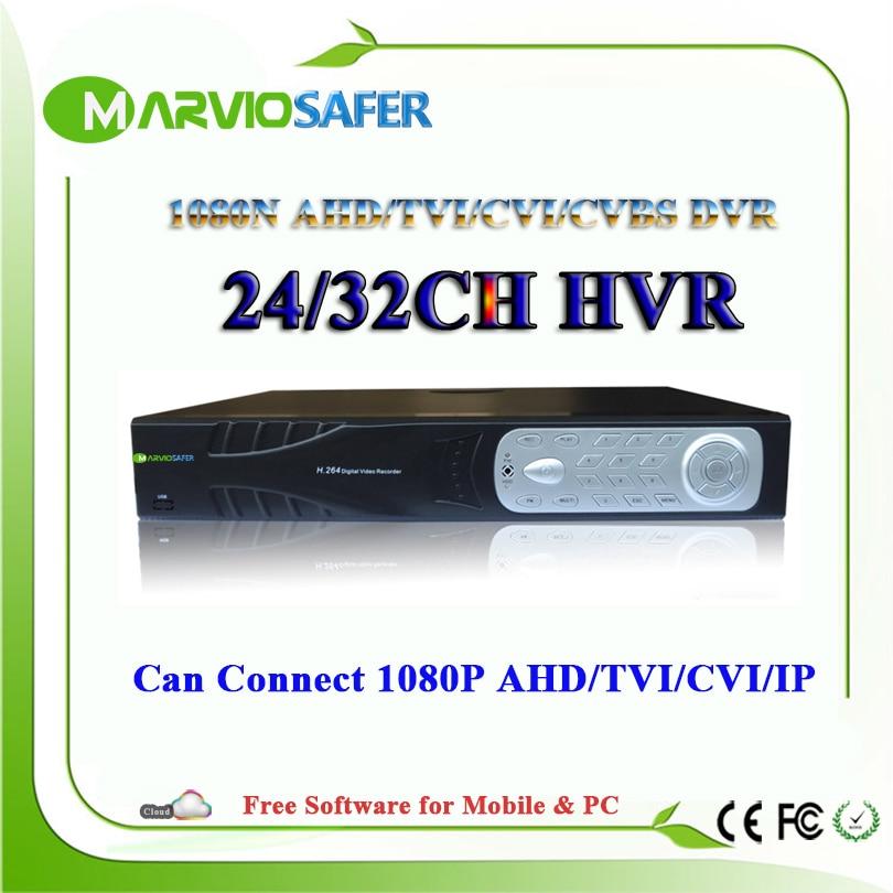 32ch 24ch 24/32 canal 1080N XVR CVI TVI AHD DVR Full HD Video Recorder 1080 p Saída HDMI gravador de CCTV AHD Camera Camara